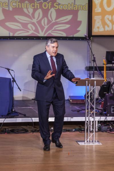 Gordon Brown at  NYA