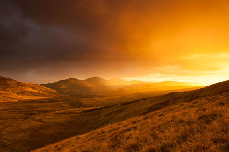 Pentland Hills Sunset