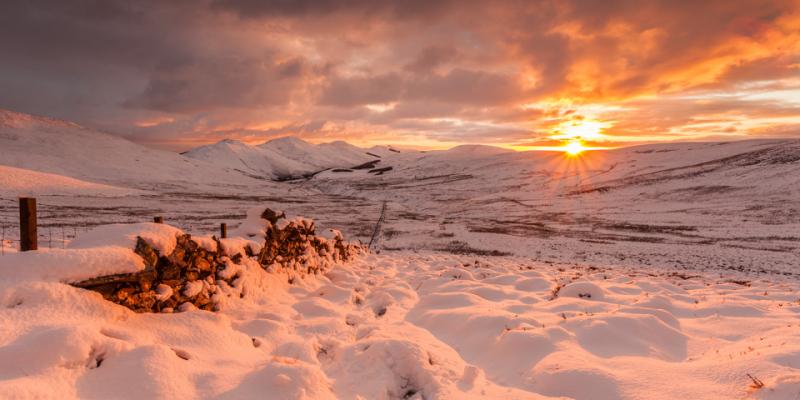Pentlands Winter Sunset