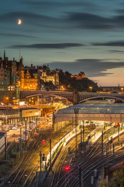 Edinburgh Waverley Twilight