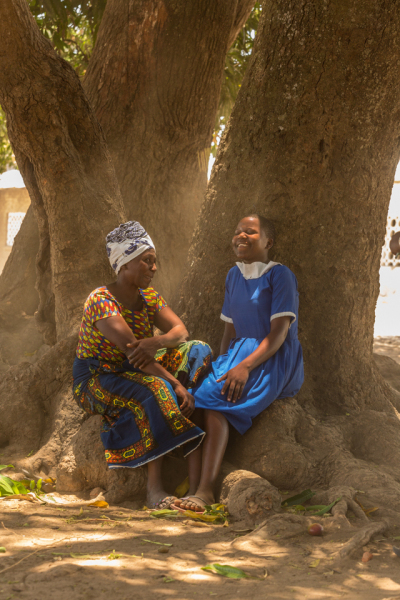Gertrude and her Mother in Malawi