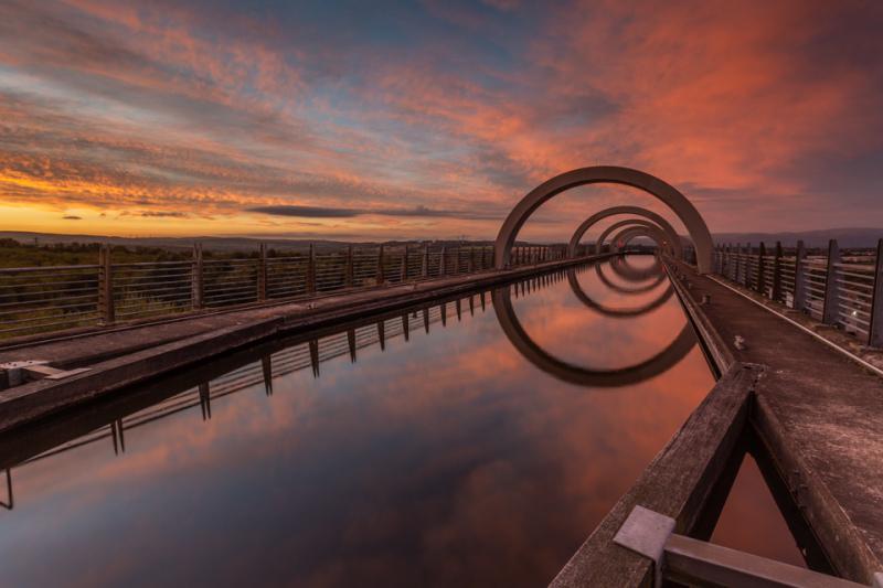 Falkirk Wheel Sunset